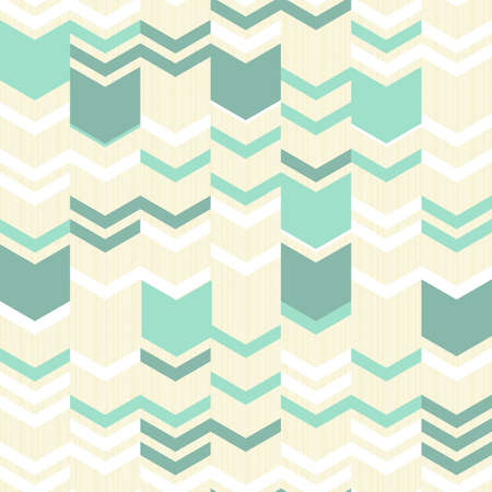 turquoise white beige simple arrows retro traditional geometric pattern  Vector
