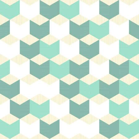 regular: turchese, bianco, beige cubetti regolari, motivo geometrico tradizionale