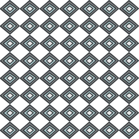 retro gray blue horizontal diamonds abstract geometric seamless pattern on white background Stock Vector - 17329366