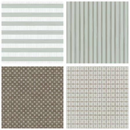 blue beige brown white stripes winter colors geometric seamless pattern set of scrapbook backgrounds Vector
