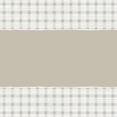 repeatable texture: azul beige marr�n a cuadros patr�n geom�trico con papel rasgado en el fondo del libro de recuerdos horizontal