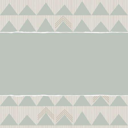 repeatable texture: azul beige marr�n patr�n geom�trico con hileras de tri�ngulos en colores de invierno con papel rasgado en el fondo del libro de recuerdos horizontal