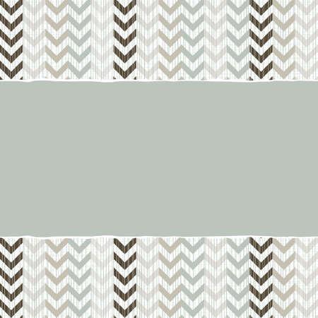 repeatable texture: azul beige marr�n geom�trico patr�n chevron en colores de invierno con papel rasgado en el fondo del libro de recuerdos horizontal Vectores