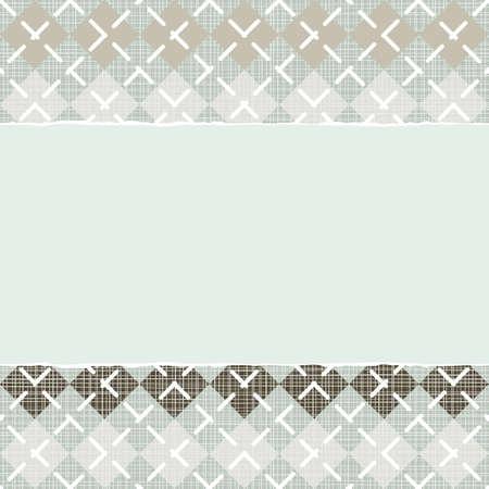 repeatable texture: Azul Beige Caf� argyle patr�n tipo con hileras de diamantes en colores de invierno con papel rasgado en el fondo del libro de recuerdos horizontal