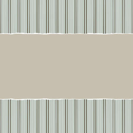 blue beige brown geometric pattern with thin brown stripes in winter colors with torn paper on scrapbook horizontal background Vector