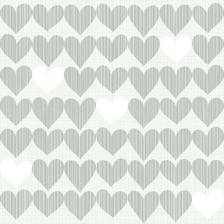 repeatable texture: blue beige white romantic seamless pattern with rows of hearts in winter colors