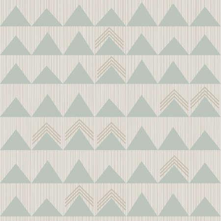repeatable texture: azul beige marr�n blanco patr�n geom�trico incons�til con hileras de tri�ngulos en colores de invierno Vectores