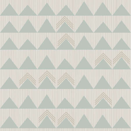 blue beige brown white geometric seamless pattern with rows of triangles in winter colors Vector