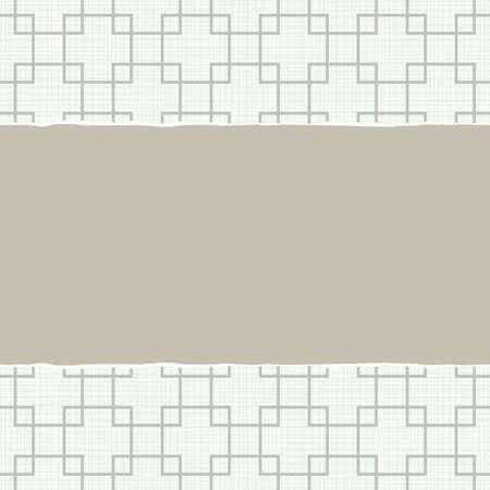 repeatable texture: Beige Azul cuadrados retros blancos motivos geom�tricos en colores de invierno con papel rasgado en el fondo del libro de recuerdos horizontal luz
