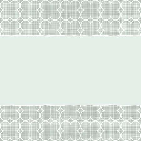 repeatable texture: azul y blanco patr�n geom�trico retro con los tr�boles blancos en colores de invierno con papel rasgado en el fondo del libro de recuerdos horizontal Vectores