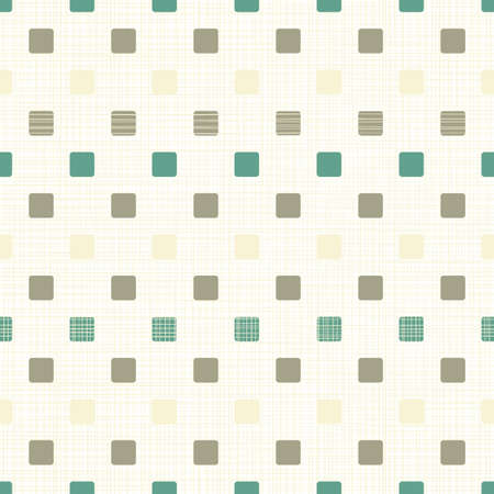 repeatable texture: brown beige turquoise little rounded squares on patterned background seamless pattern