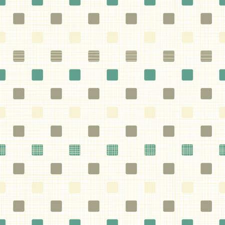 repeatable texture: marr�n amarillento color turquesa peque�os cuadrados redondeados en patr�n de fondo sin fisuras patr�n Vectores