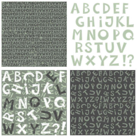 latin letter letter set and background set with letters in blue gray and white Stock Vector - 18007636