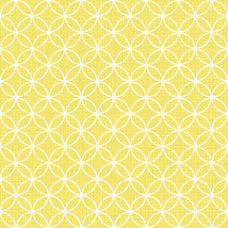 retro white circles in rows on sunny yellow background abstract geometric seamless pattern