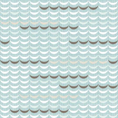 regular: delicati luce blu beige marrone onde regolari elementi geometrici in file orizzontali su sfondo blu senza soluzione di continuit�