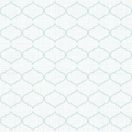 delicate light blue retro shaped regular geometric elements in horizontal rows on white background seamless pattern Stock Vector - 19752063