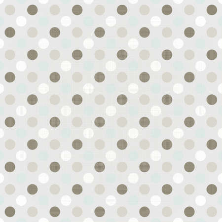 delicate blue brown beige white little polka dots geometric elements on beige background seamless pattern Stock Vector - 20169080