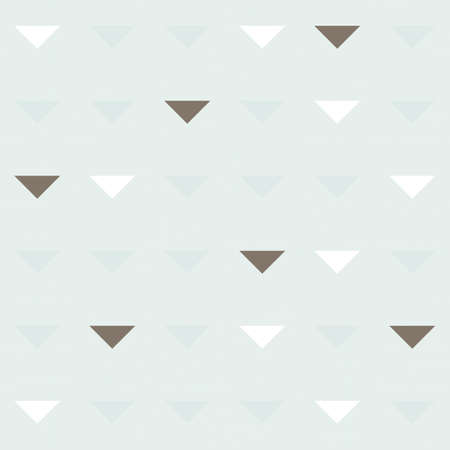 delicate blue beige brown triangles in regular rows on blue background geometric seamless pattern  Vector