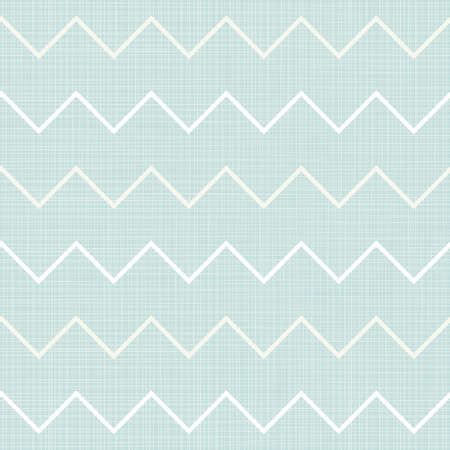 gentle background: delicate beige white chevron geometric elements in regular horizontal rows on blue background seamless pattern  Illustration