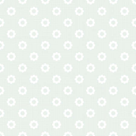 delicate beige white flower shaped geometric elements in regular horizontal rows on blue background seamless pattern  Vector