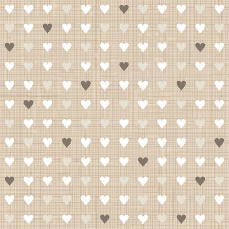 delicate light little hearts regular geometric elements in rows on beige background seamless pattern Stock Vector - 20169050