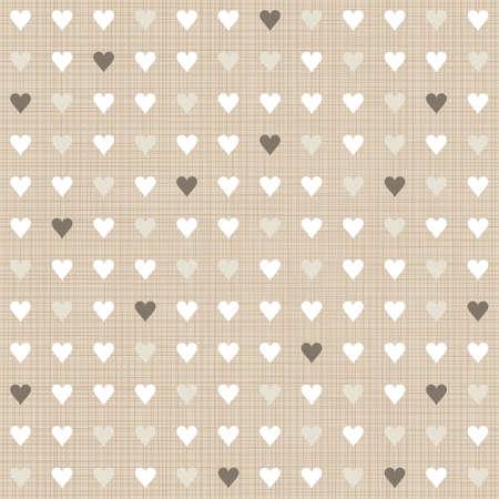 delicate light little hearts regular geometric elements in rows on beige background seamless pattern Stock Vector - 20169050