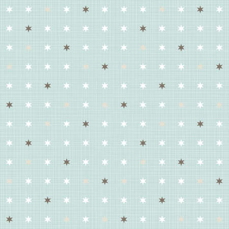 delicate light little stars regular geometric elements in rows on blue background seamless pattern  Vector