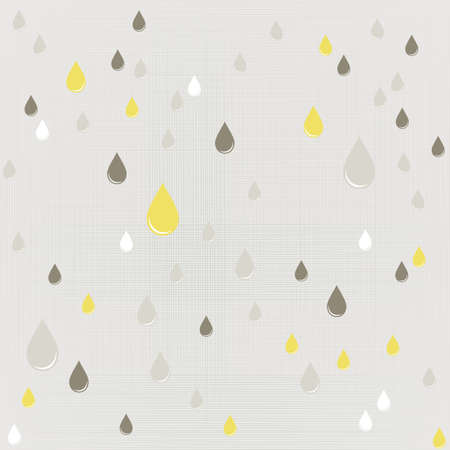 delicate blue rain drops geometric elements on gray background seamless pattern Stock Vector - 20167757