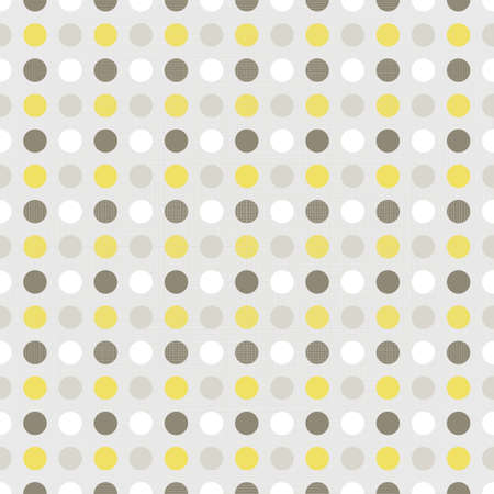 delicate yellow brown beige white little polka dots geometric elements on beige background seamless pattern Stock Vector - 20169045