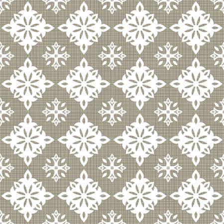 grande e piccolo: Retro grande bianchi piccoli elementi a forma di stella a righe su sfondo grigio marrone astratto geometrico senza soluzione di continuit� Vettoriali
