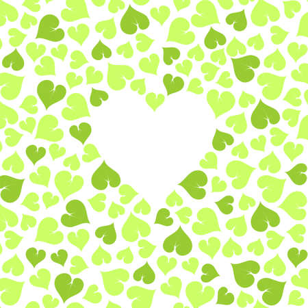 green leaves ecological background with blank heart space for your text on white Stock Vector - 23207511