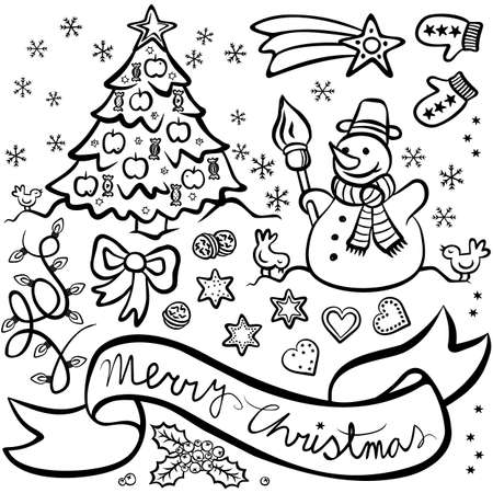 christmas images black and white