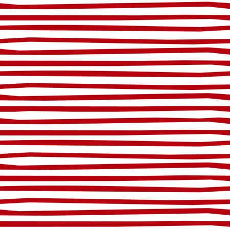 Red white thin regular horizontal stripes seasonal holiday seamless pattern