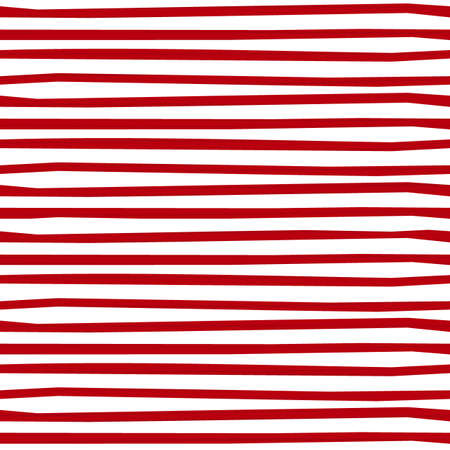 Sottili strisce orizzontali regolari rosse bianche vacanza stagionale seamless pattern