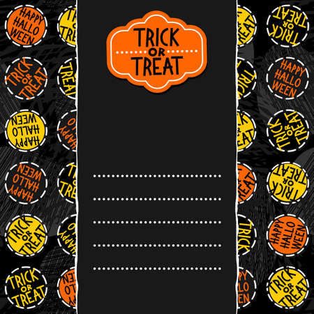 Black Cats With Halloween Wishes Holiday Seamless Vertical Border ...