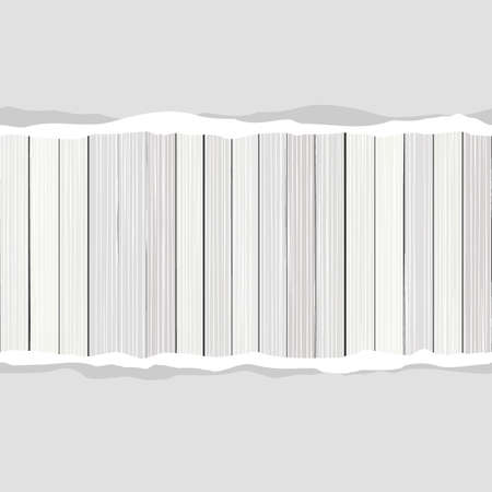 forrest: Blank torn paper with white wooden floor fence horizontal vertical vector background