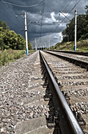 railway track: Photo of the railway of HDR