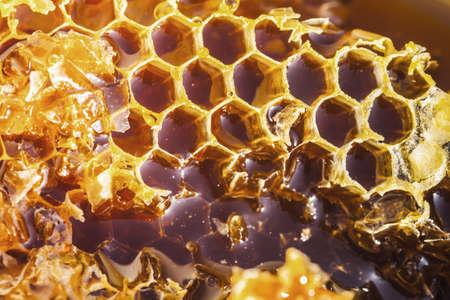 Photo of natural honey in honeycombs Reklamní fotografie