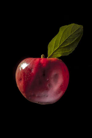 grown up: Photo of apple grown up without chemical processing Stock Photo
