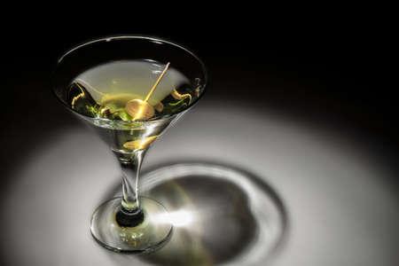 martini glass: Photo of a glass of martini