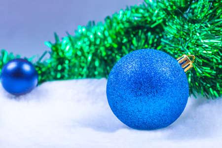 Photo of blue Christmas balls