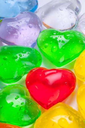 Photo of multi-colored hearts
