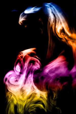 smoke photo in sunlight beams Reklamní fotografie
