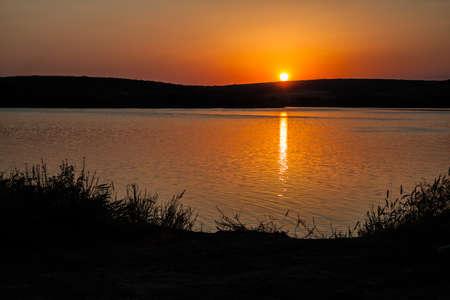 Photo of the setting sun Reklamní fotografie