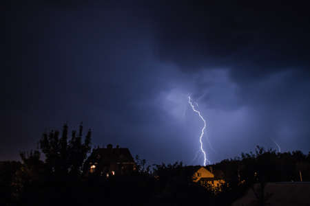 photo of the storm over the village