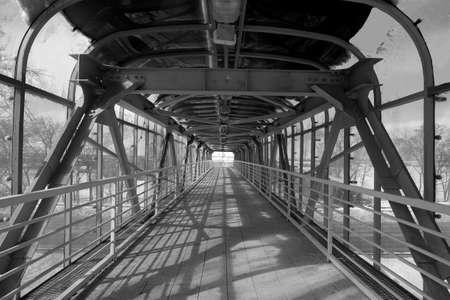 The bridge over the highway Reklamní fotografie