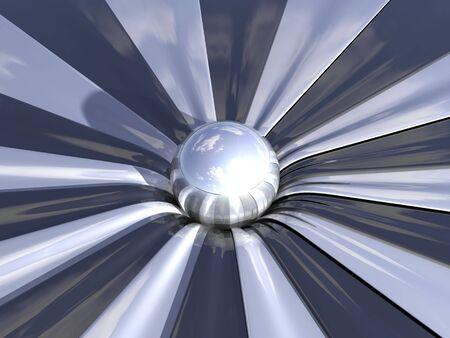 reflect: reflect ball  Stock Photo