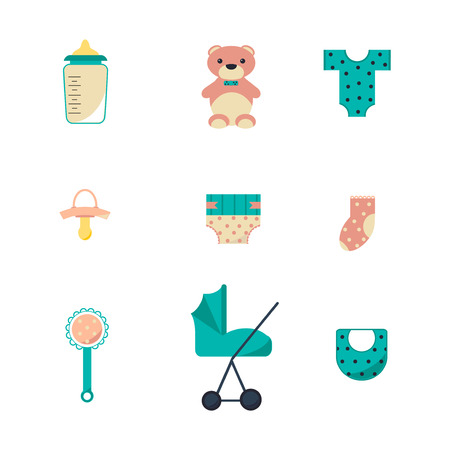 bootees: Babies Icons Set