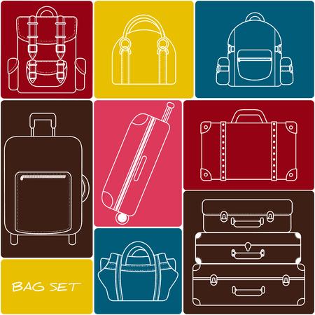 valise: Travel bag and backpack set Illustration