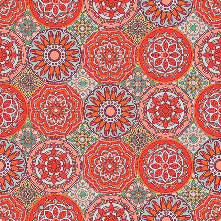 Seamless Background with Indian Motifs